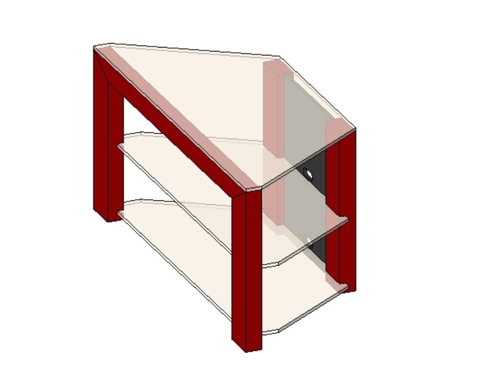 Revit glass TV cabinet