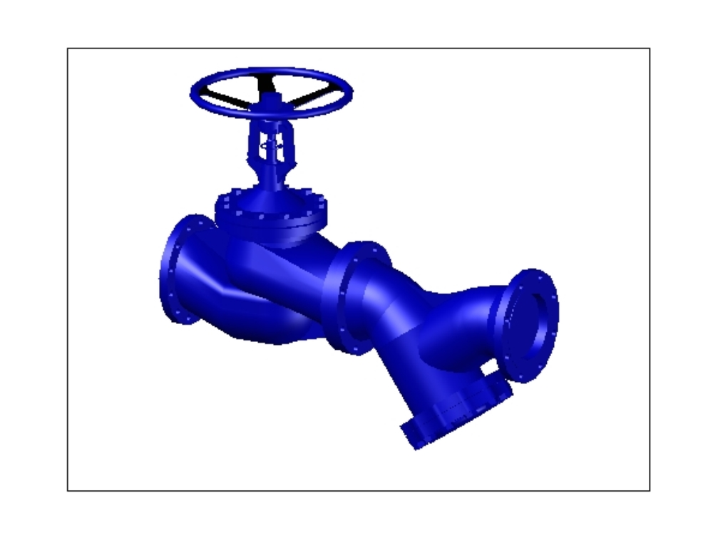 Válvula de globo de alta presión ac.