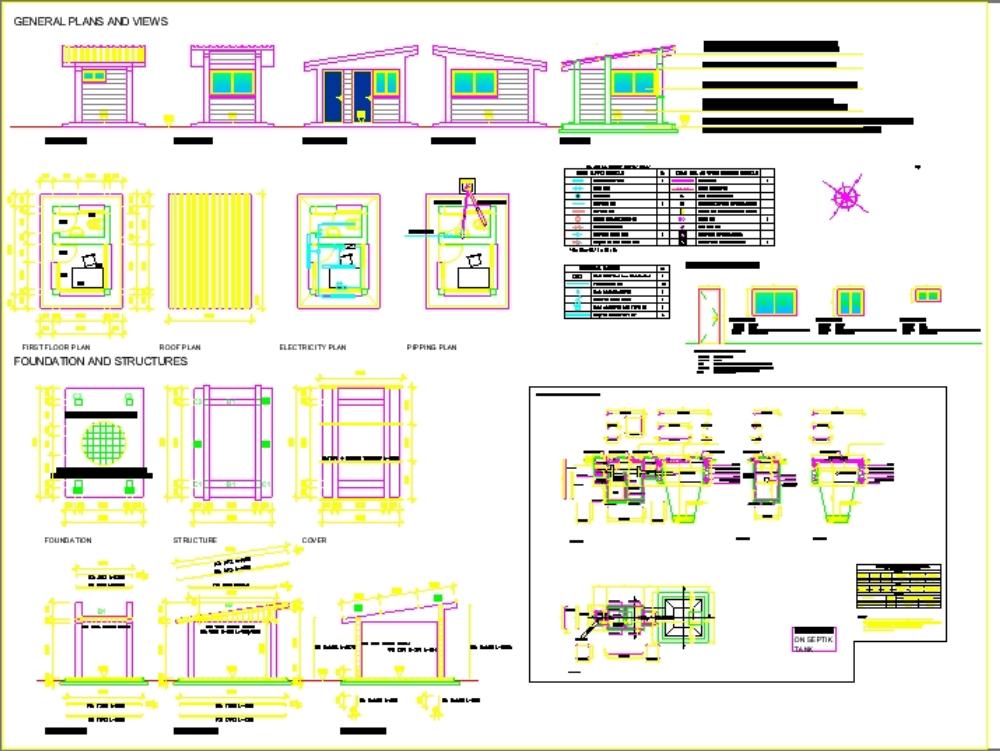 Planos de garitas de vigilancia y control