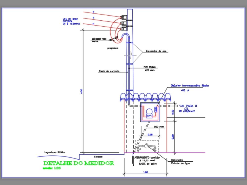 Medidor bifásico de energia elétrica