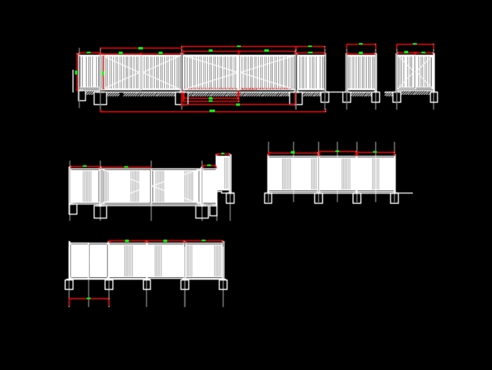 Plano de reja tipo de 3 metros de altura