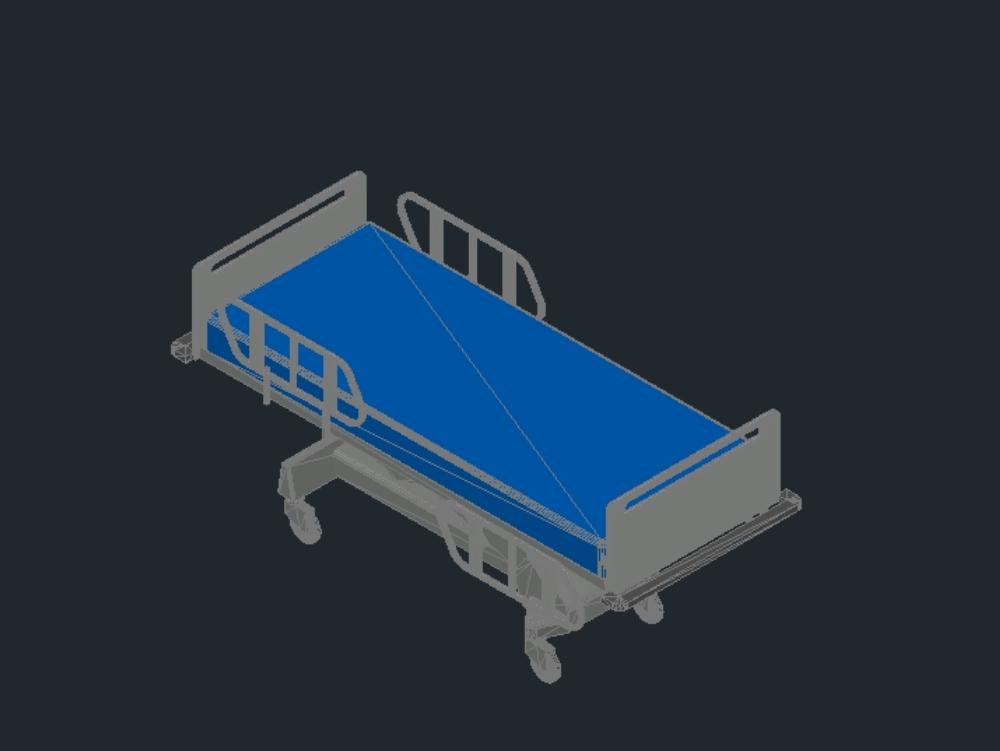 Hospital stretcher intensive care unit