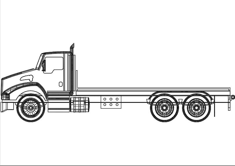Camion de carga doble eje