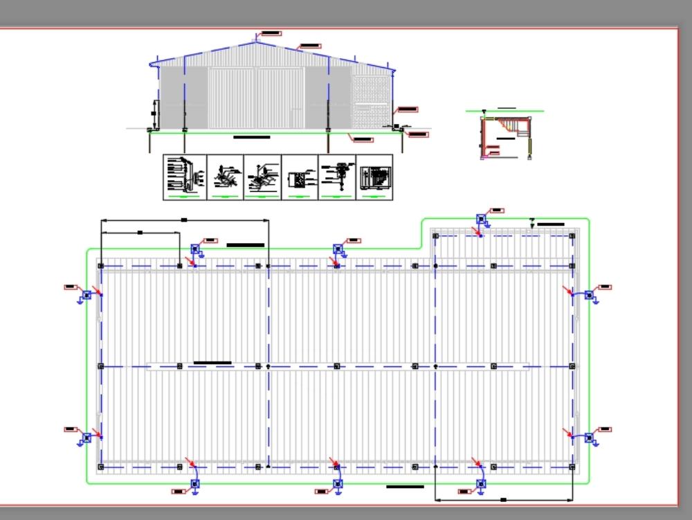 Sistema de proteção contra descargas atmosféricas galpão industrial