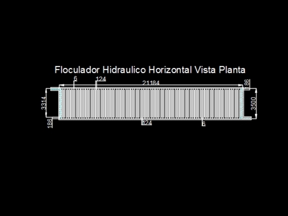 Floculador horizontal