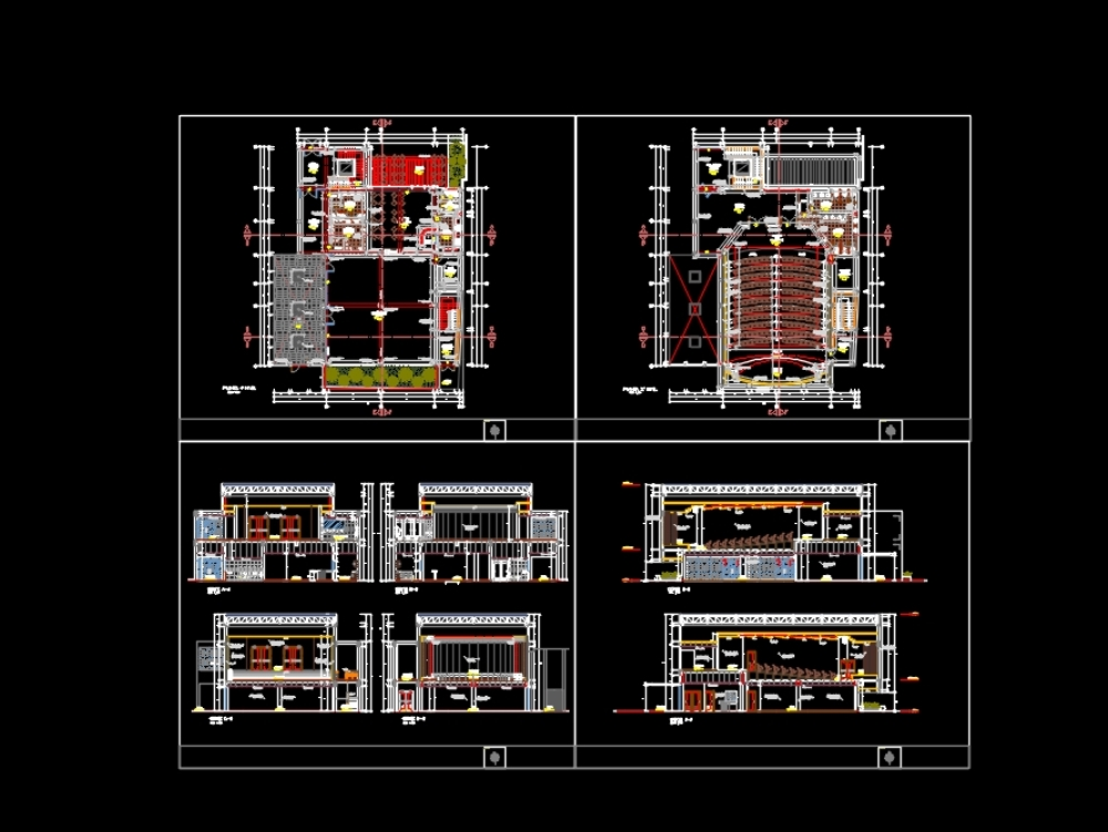 Cultural centre; plan used software: autocad 2010