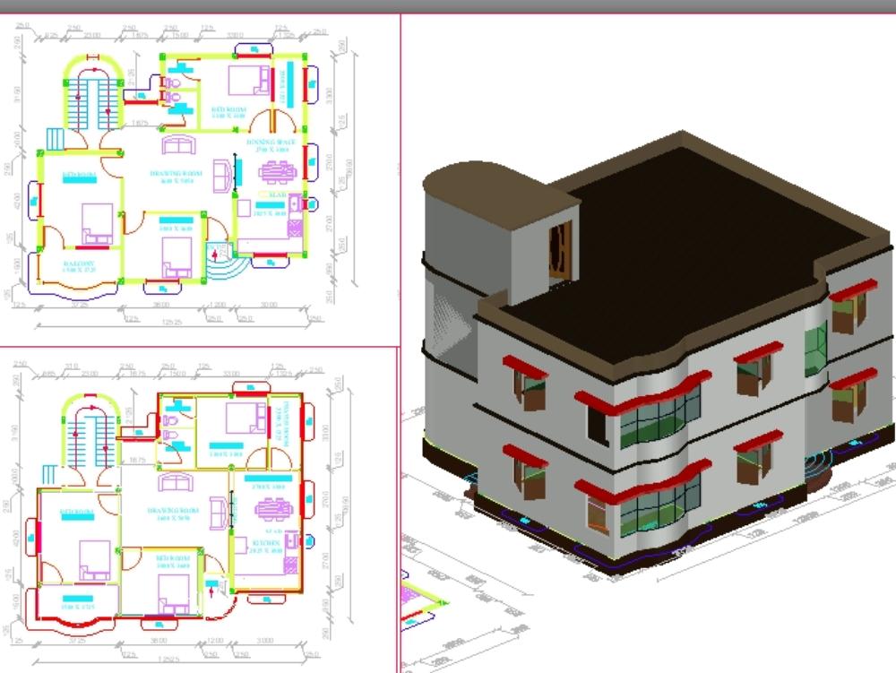 5 floors bulding for residential house