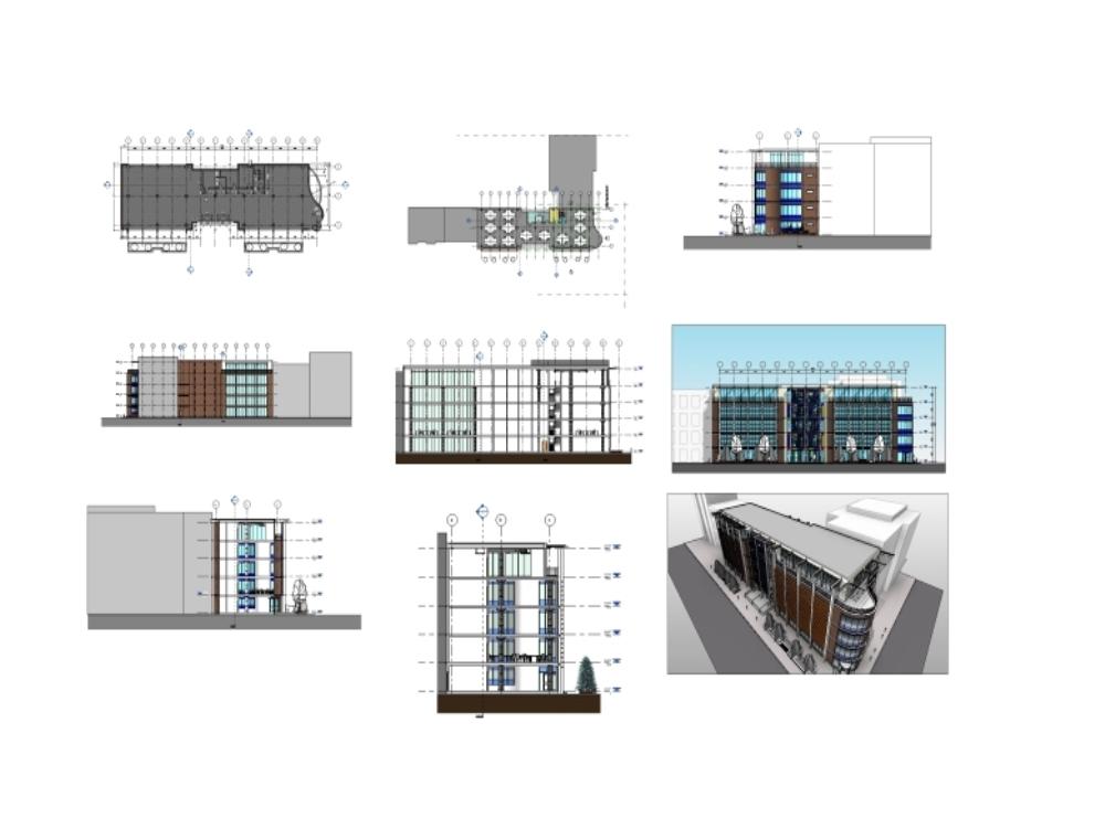5-level office buildings in revit 2017