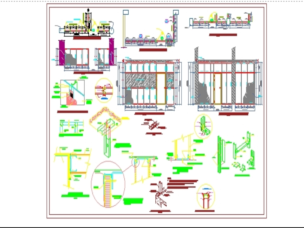 Plans and construction details drywall