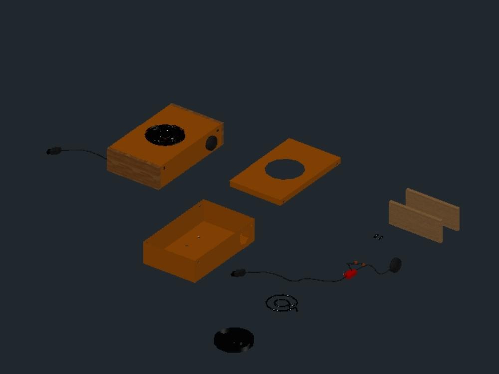 Hornilla eléctrica en tercera dimensión