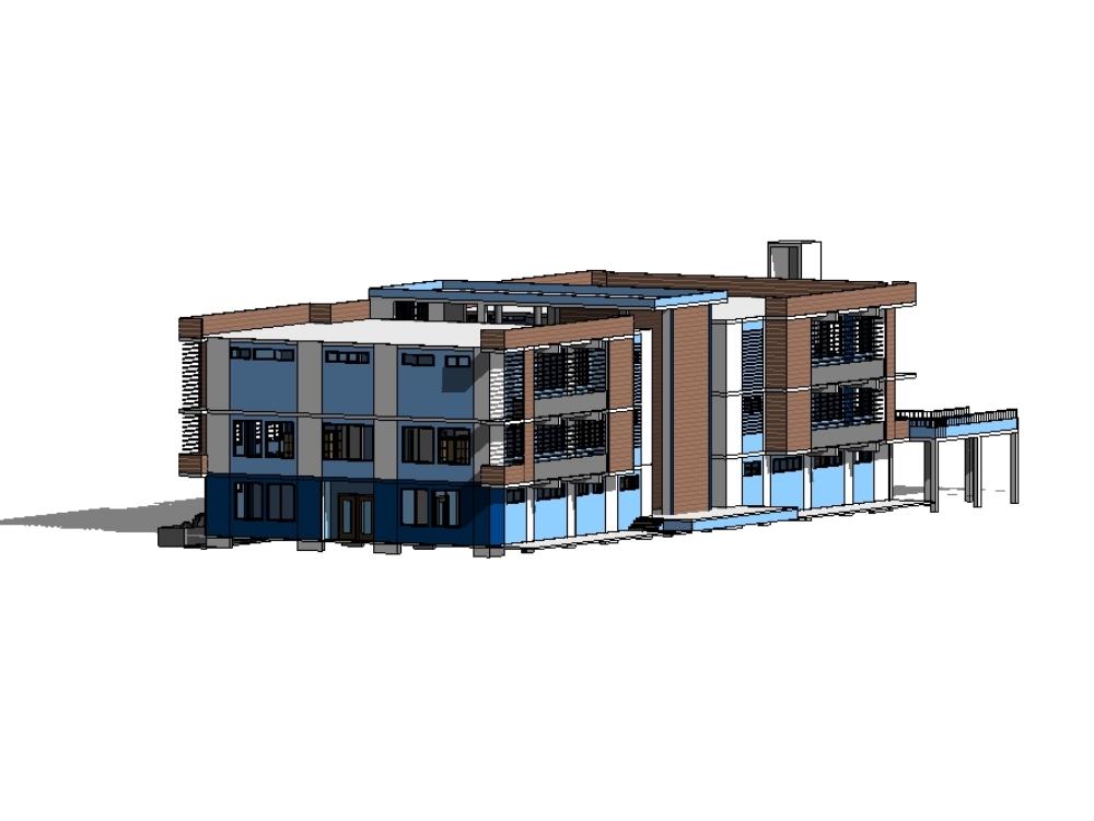Diseño de colegio en revit 2018 bim r