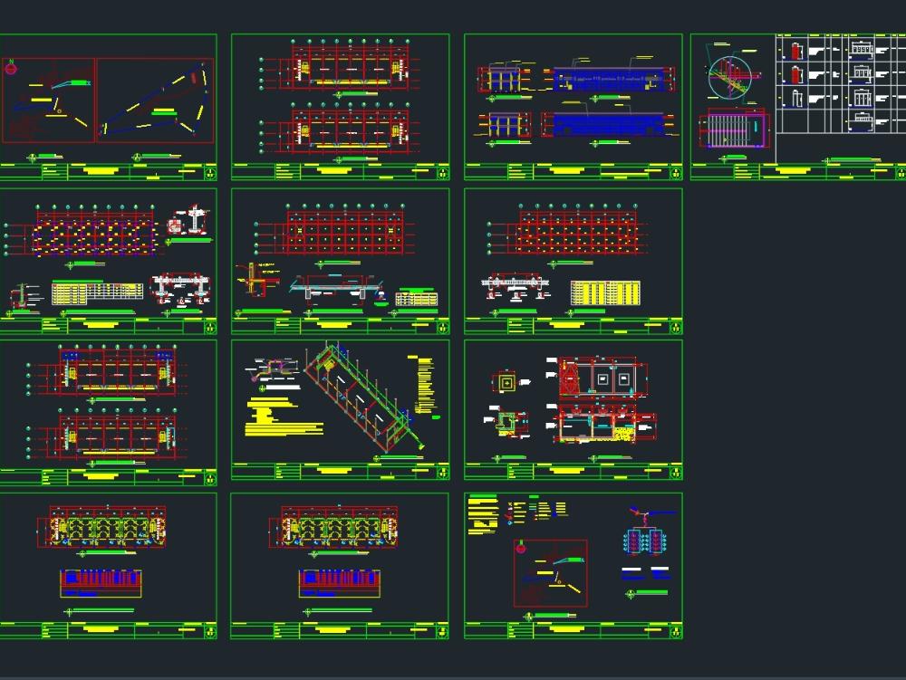 Edificio escolar propuesto de 2 plantas y 6 aulas
