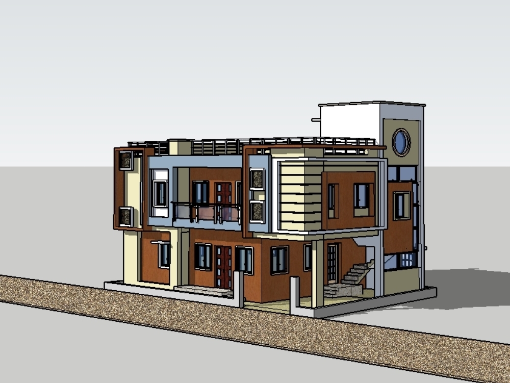 East facing house; allowing maximum sunlight inside ; energy efficient .