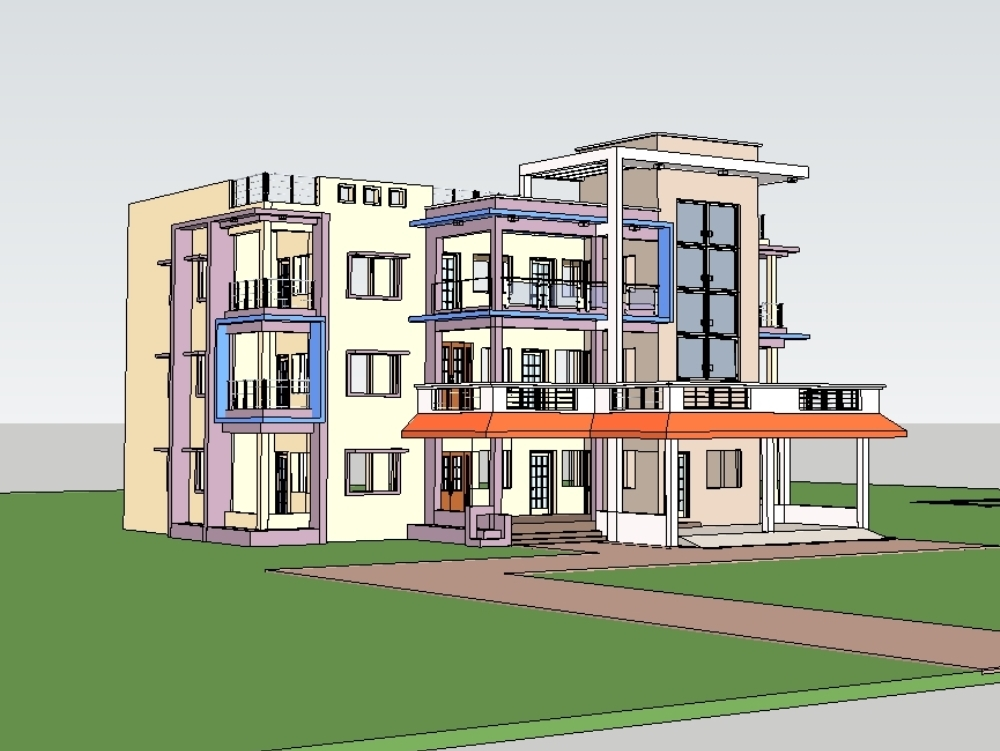 Joint family house ; contemporary design; indian way of living
