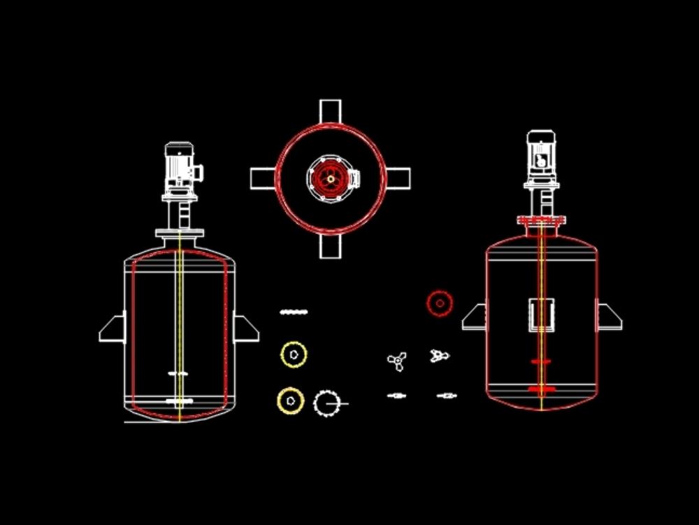 Arreglo de agitador y mezclador para liquidos