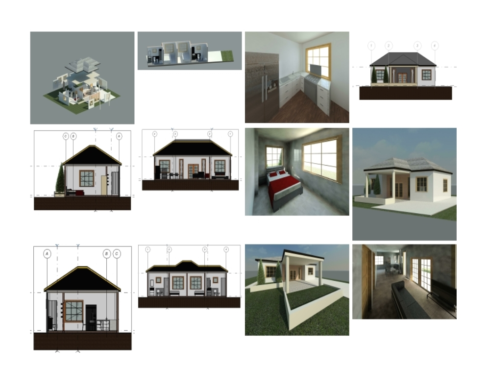 One level house in revit