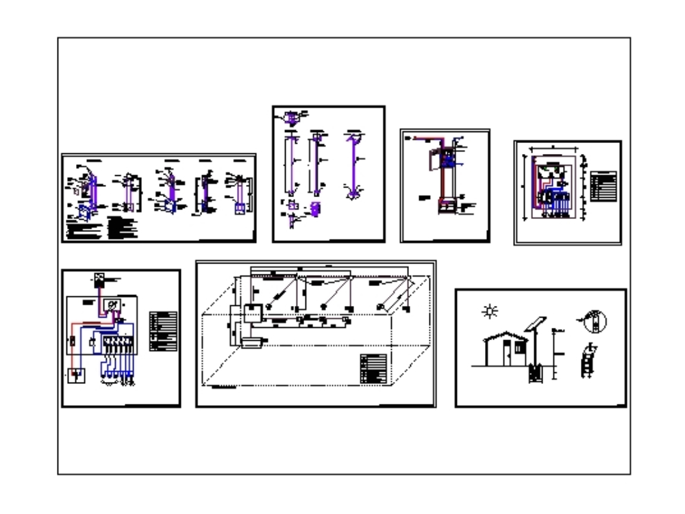 Photovalitic solar panels and electrical diagram