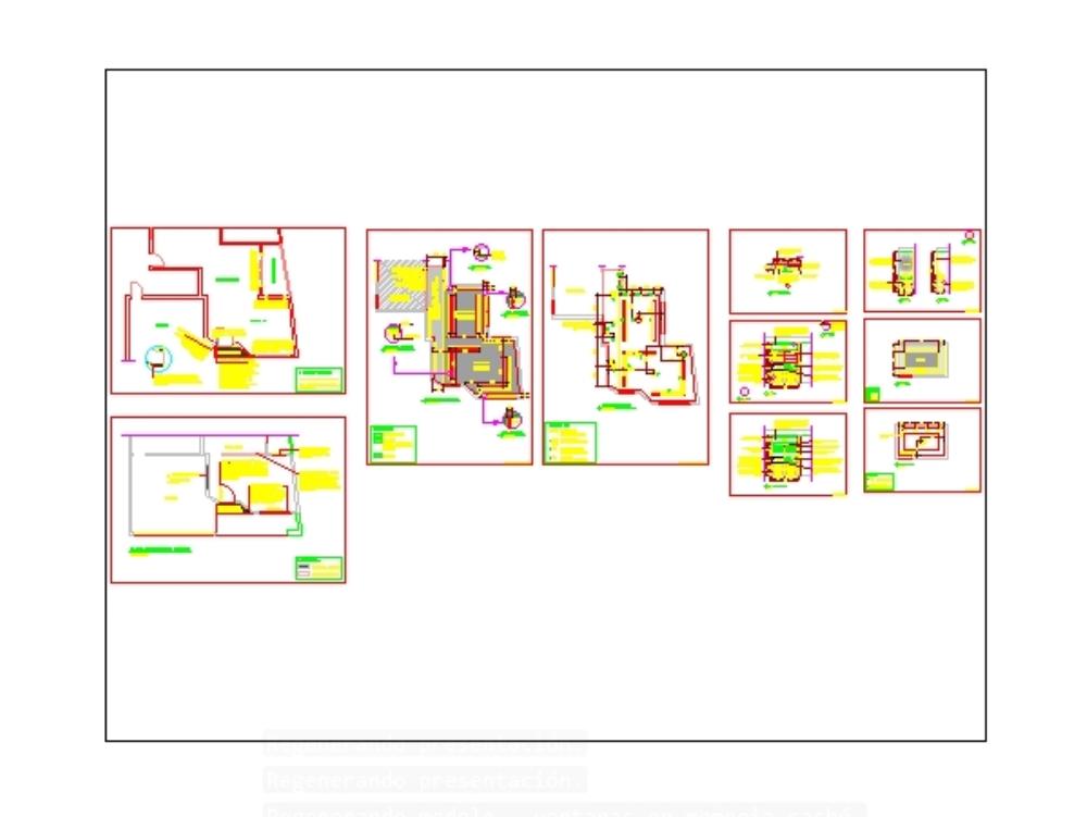Detalle del proyecto de renovación ejecutiva de interiores comerciales con detalles de dwg