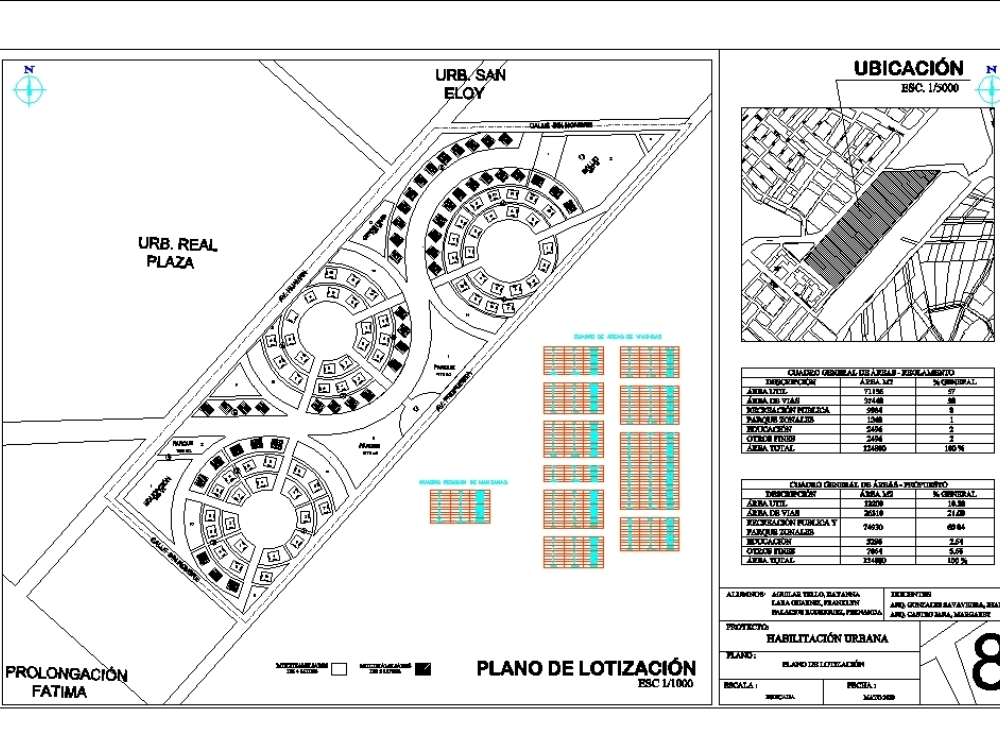 Plan of lotización - habilitation hurbana