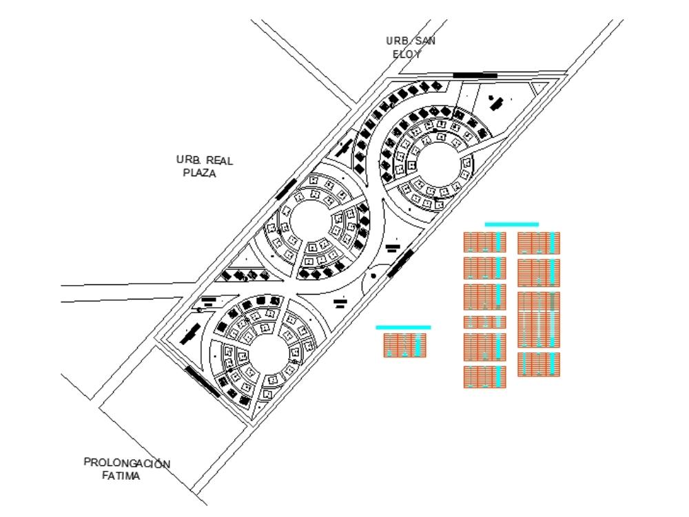 Plano de lotización - habilitación  hurbana