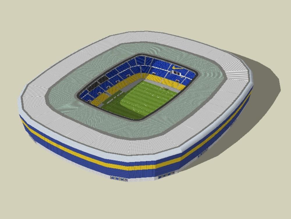 Ampliacion del estadio La Bombonera; 360 grados