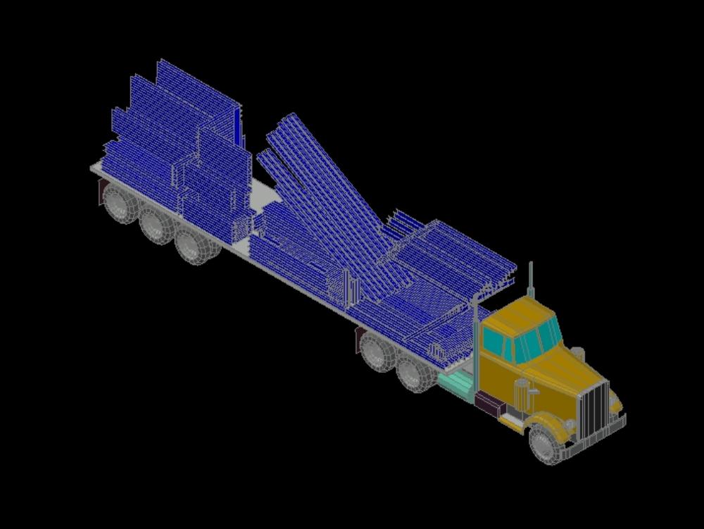 Camión de transporte de soportes