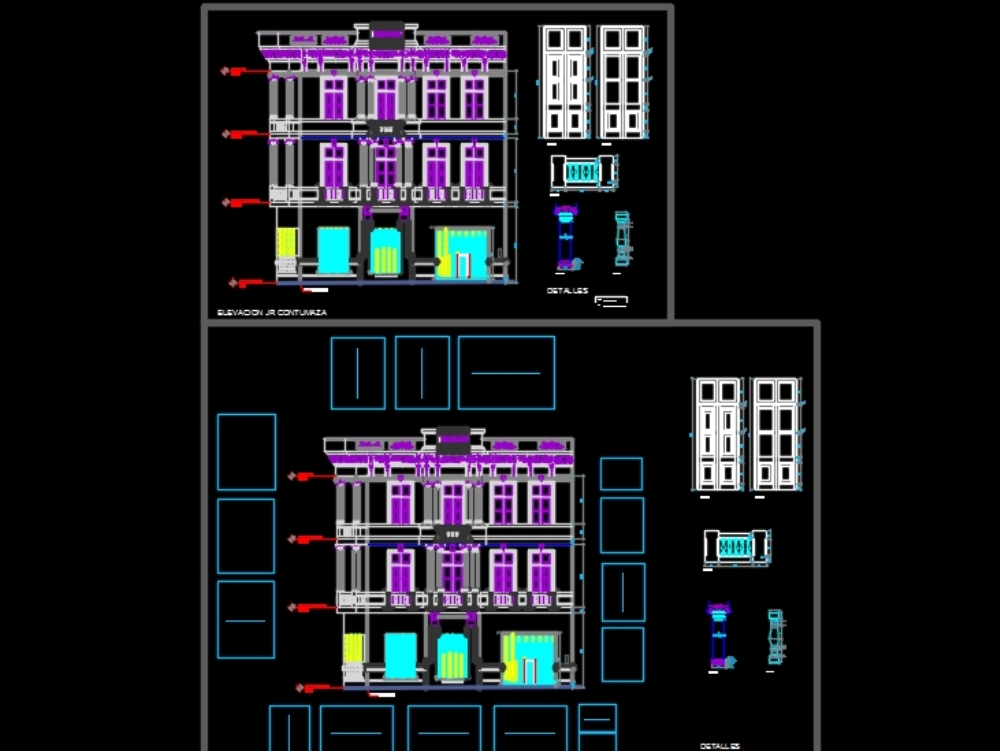 Colonial architecture - facades