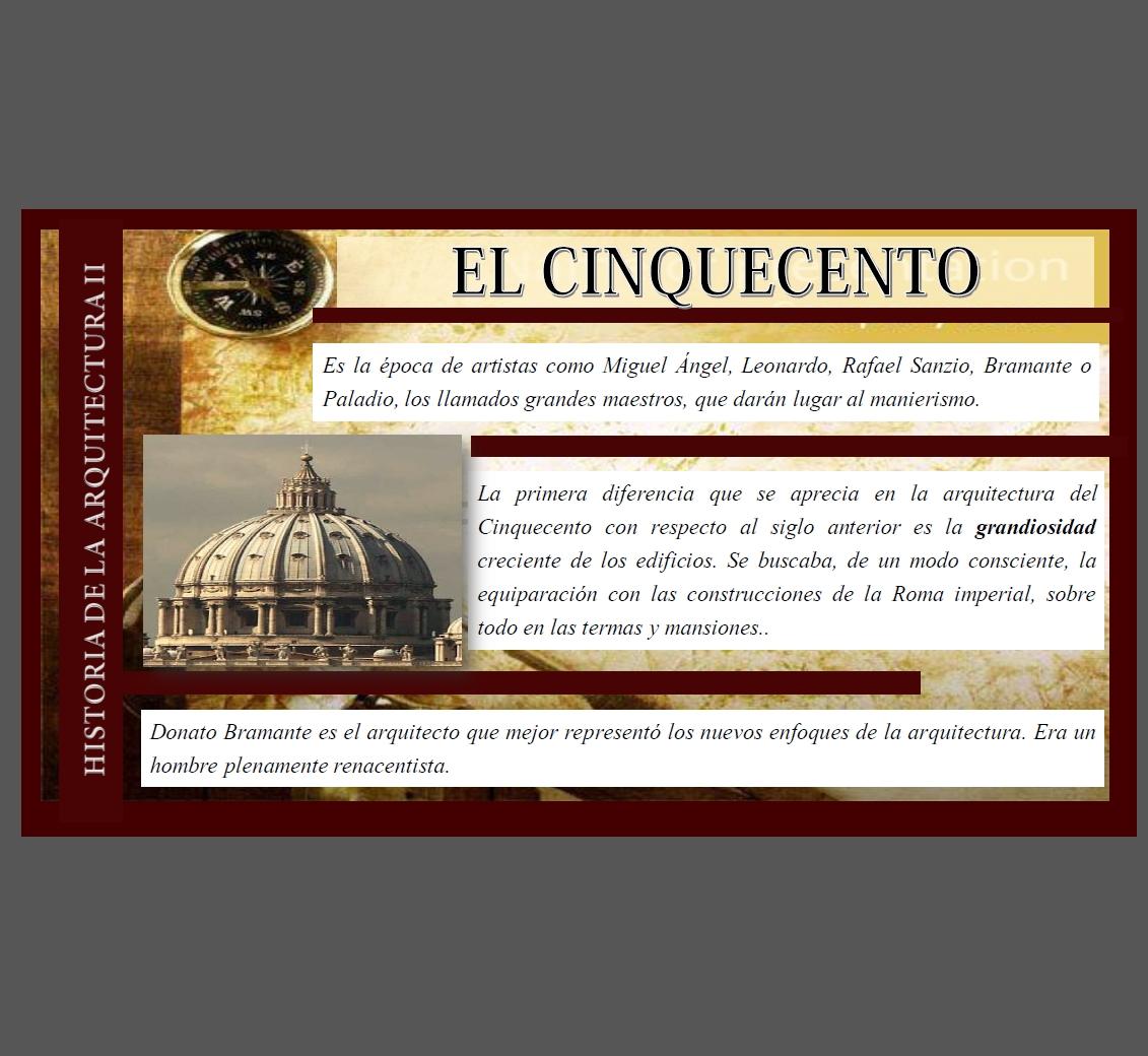 Historia de la arquitetura 2 - cinquecento