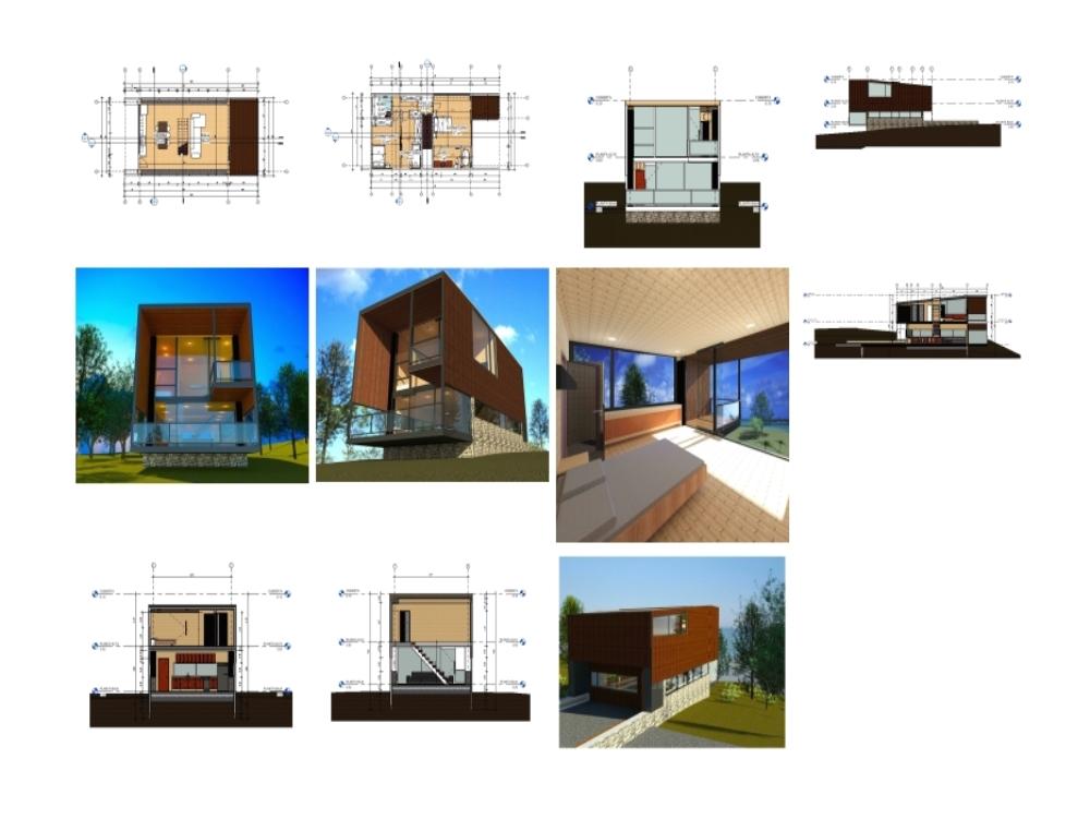 Revit 2-tier wooden shelter