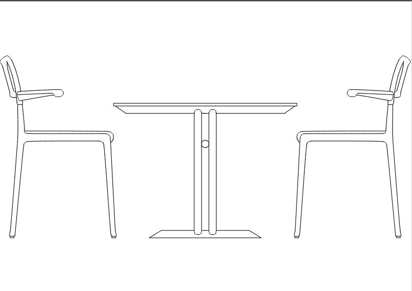 Mesa redonda con 4 sillas.