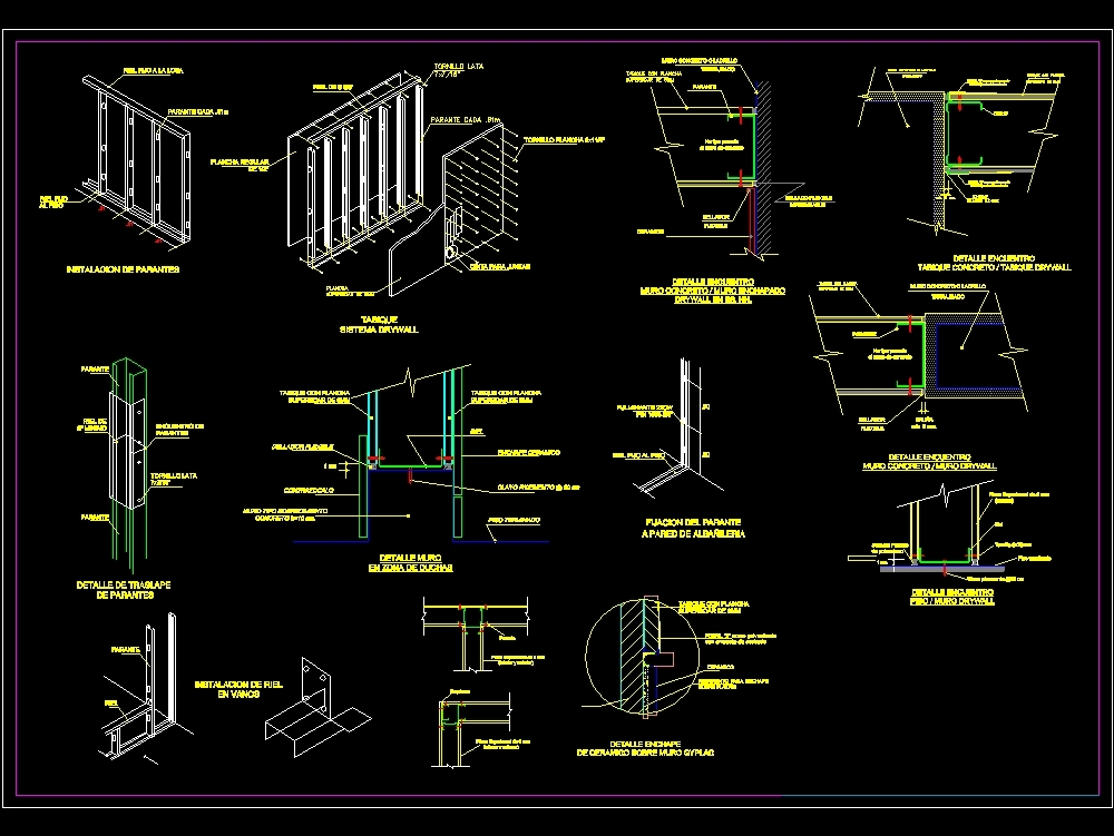Drywalll partition details
