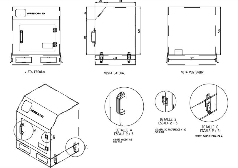 Planos de protector de impresora 3d makerbot