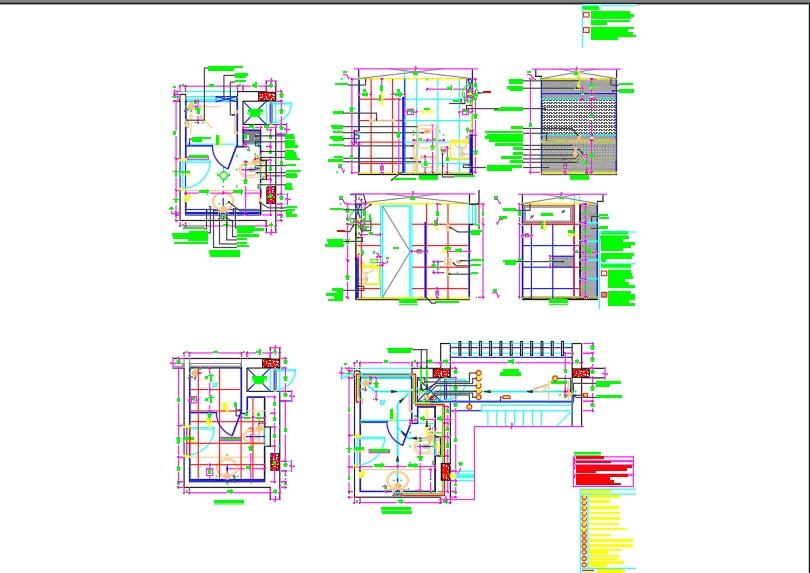 Floor plan of guest toilet detailed