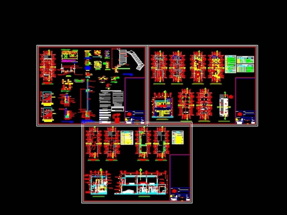 Complete house plans on two levels 6m x 16.87m