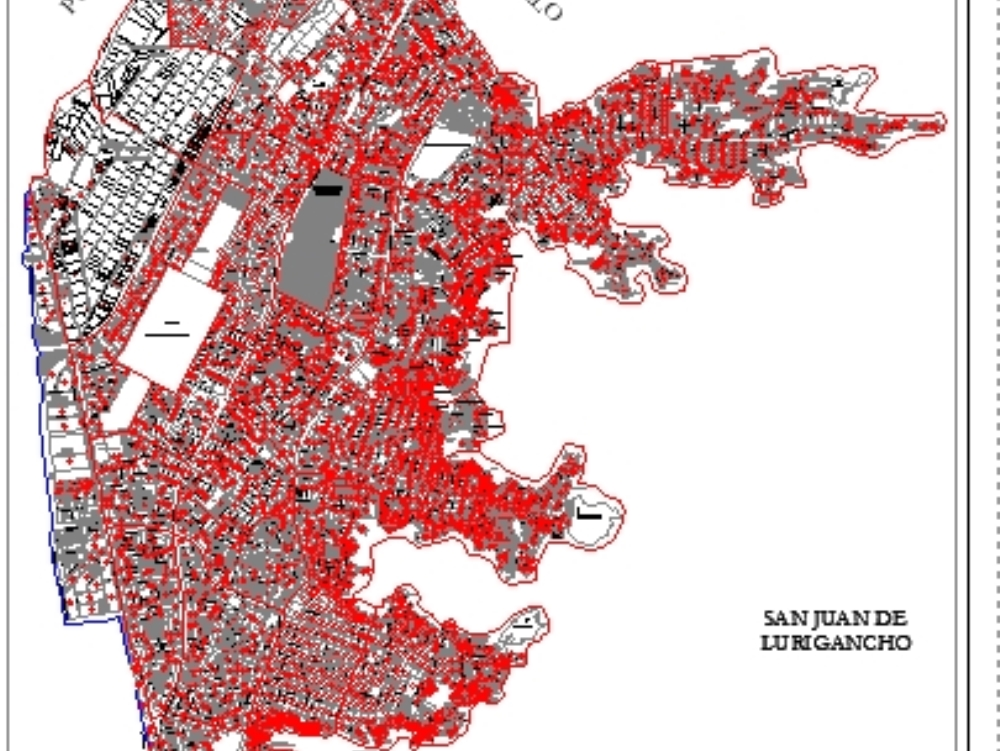 Plano urbano del distrito de comas - actualizado al 2010