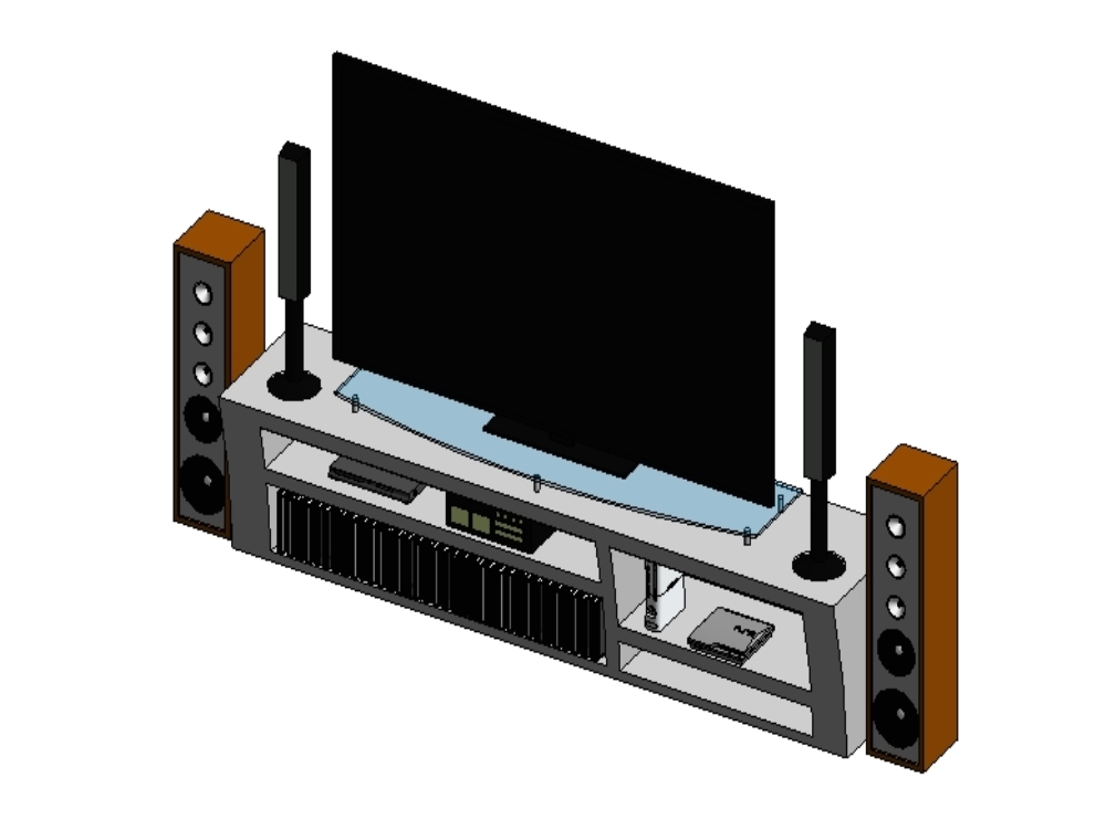 Console for tv and audio