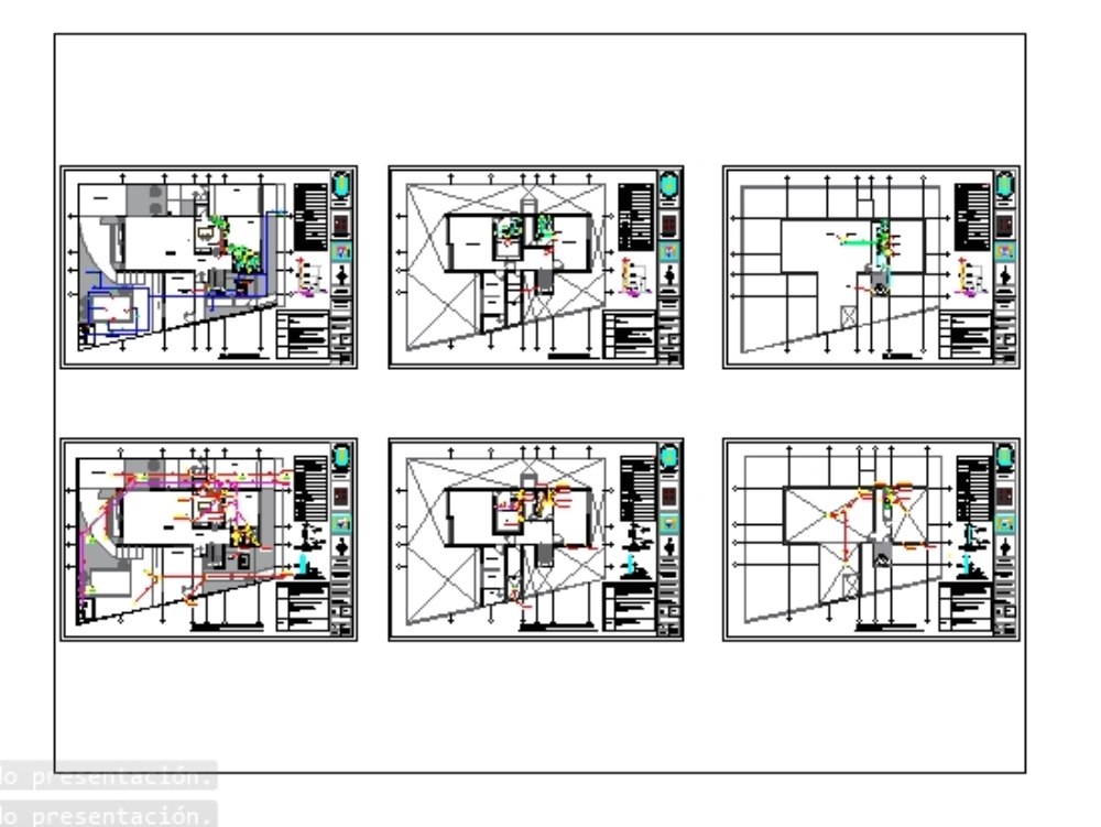 Plans of sanitary facilities in social housing