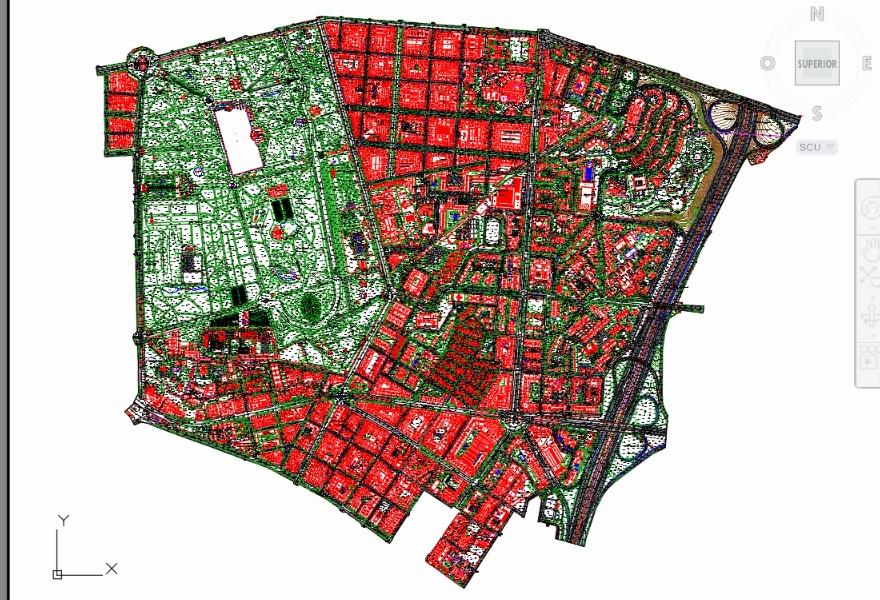 Cadastral plan madrid - barrio el Retiro