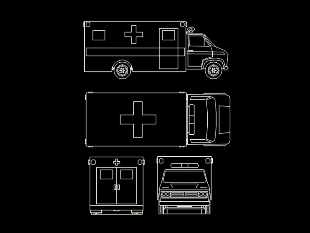 Autocad block ambulance