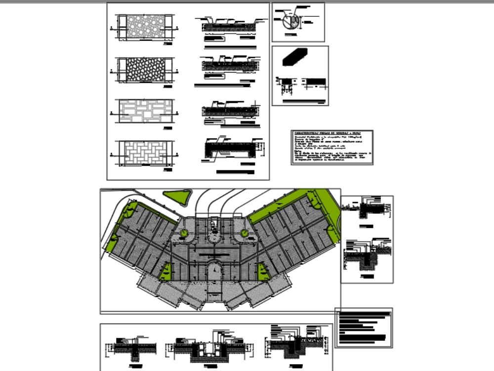 Detalles de pisos para  estacionamientos