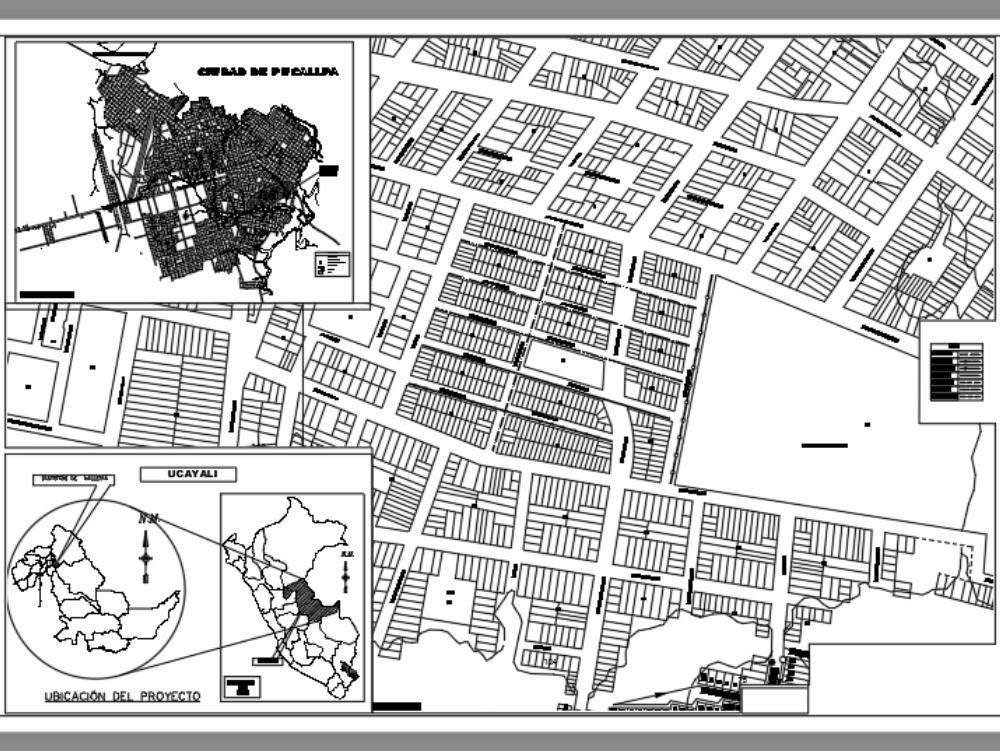 Plano de ubicación territorial de la ciudad de pucallpa