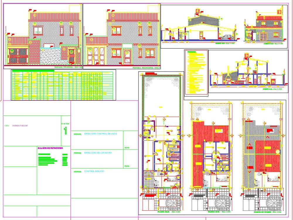 Planos municipales de una vivienda 160m2