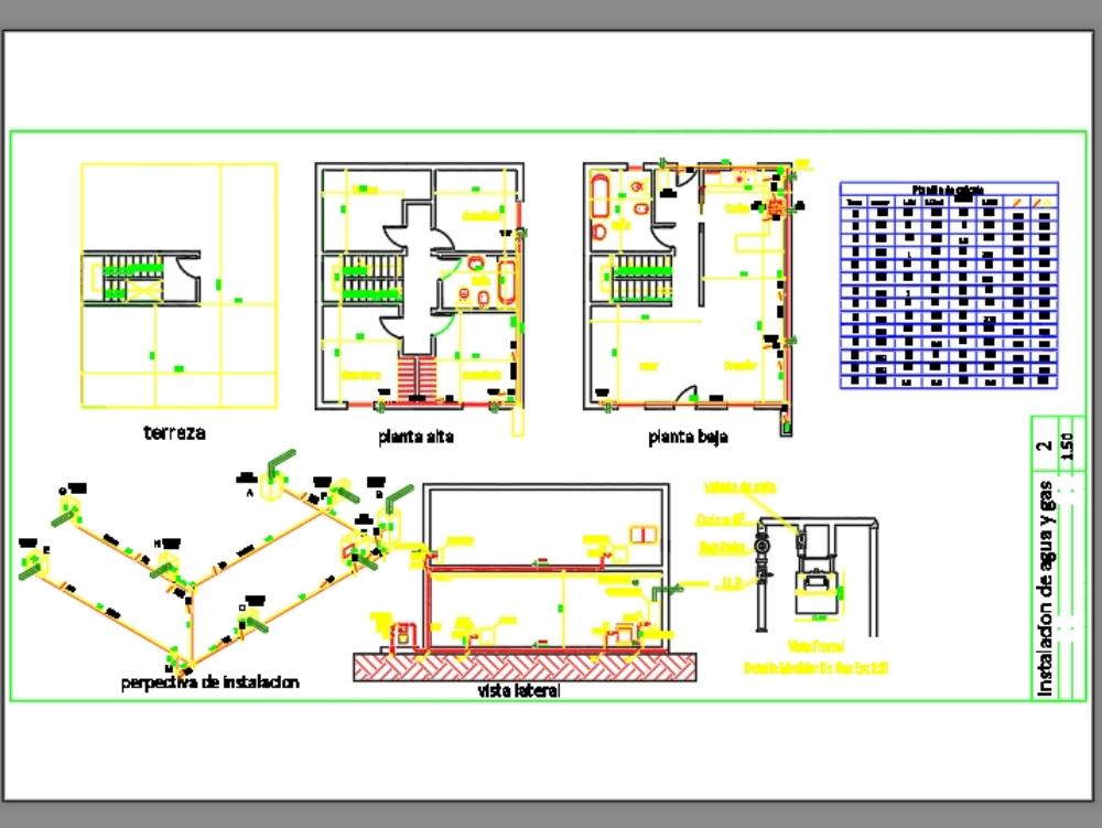 Proyecto de instalación de gas y su calculo