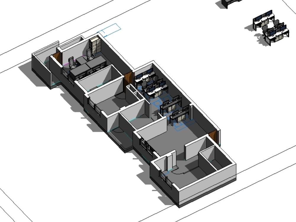 Mesa de oficina modelo revit mesa md y estaciones de trabajo