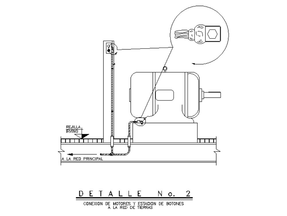 Botonera y motor a tierra-electrico