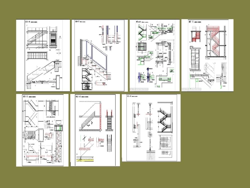 Diseño varios modelos de escaleras metálicas