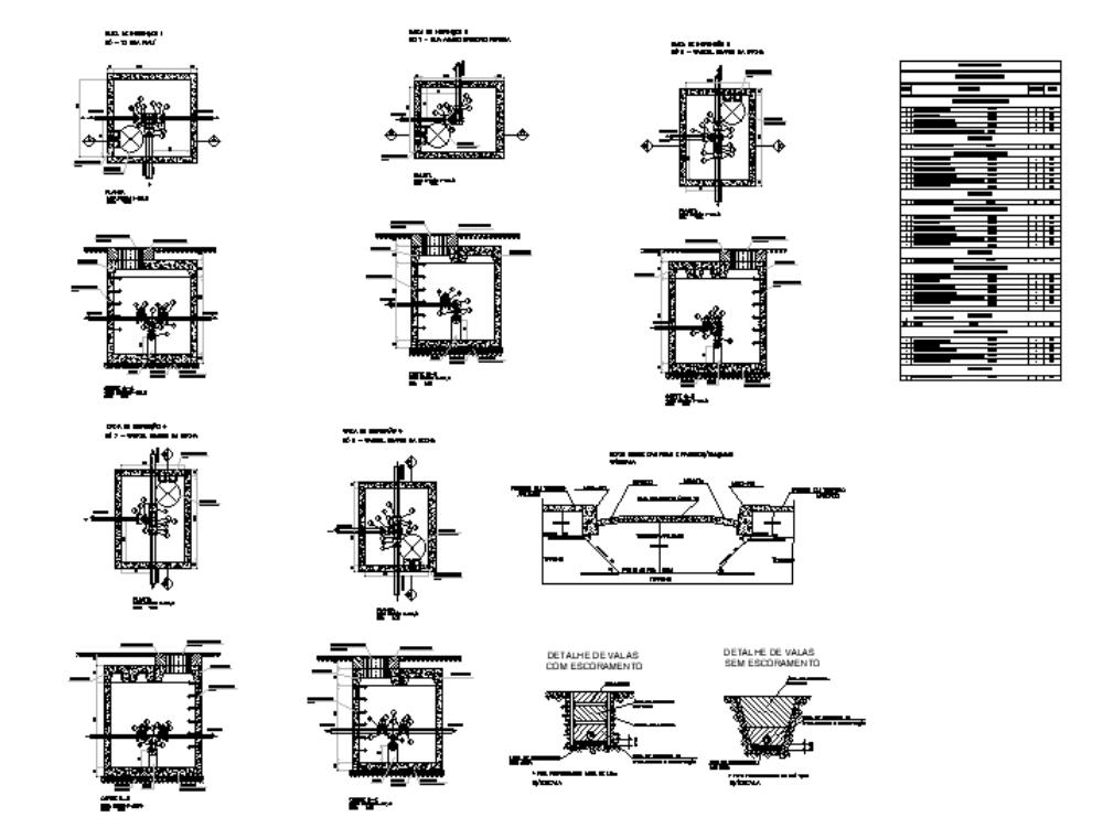 Caja de inspección isométrica para el suministro de agua