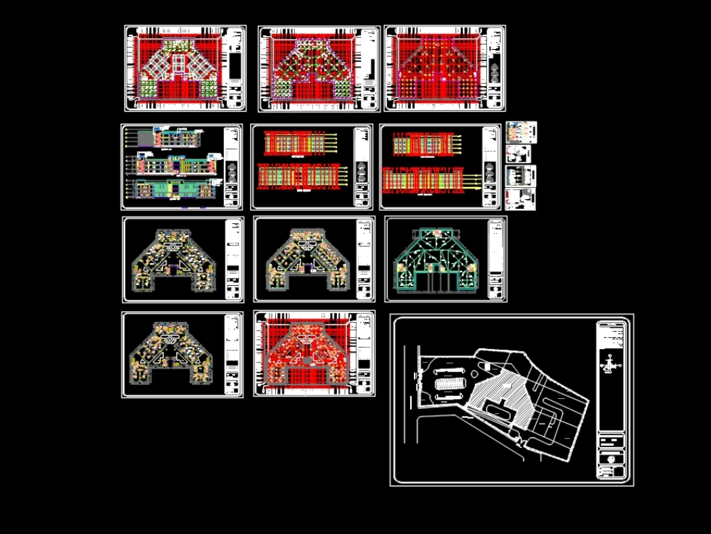Hospital working drawing autocad file