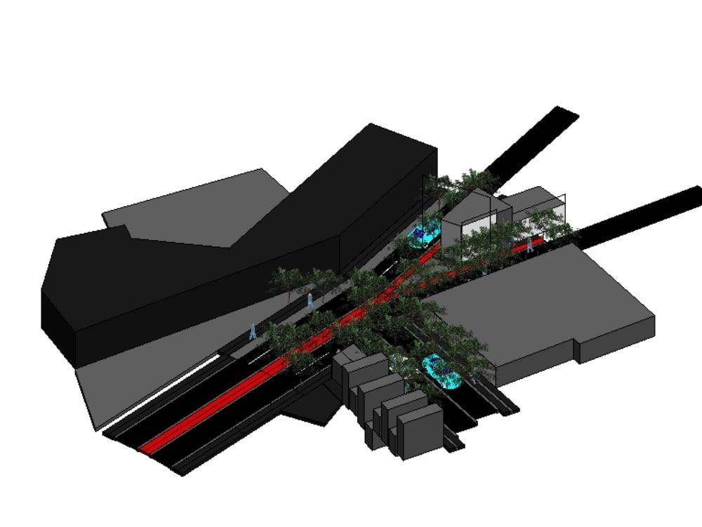 Revit plant detallado de infraestructura
