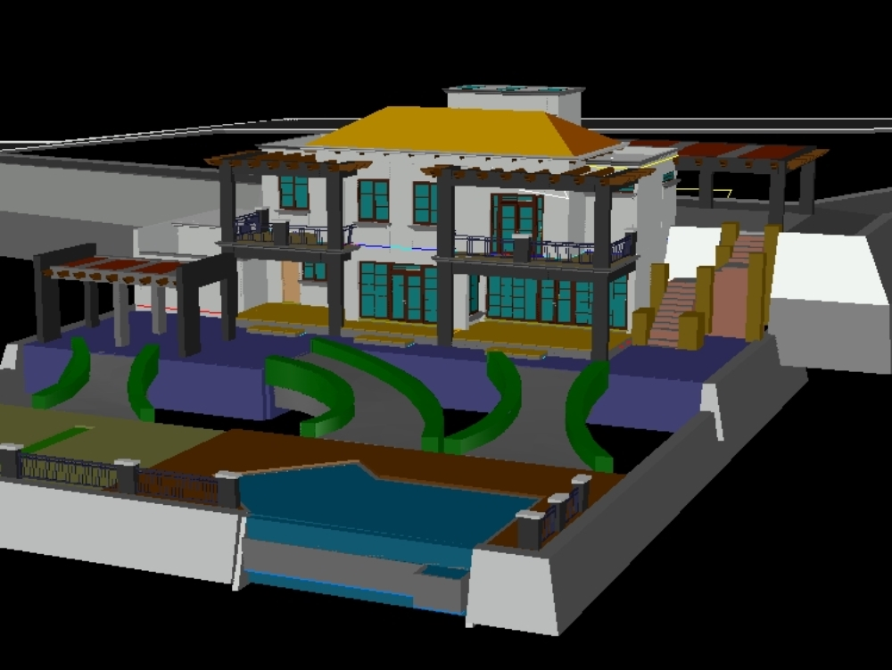 House in third dimension single-family home